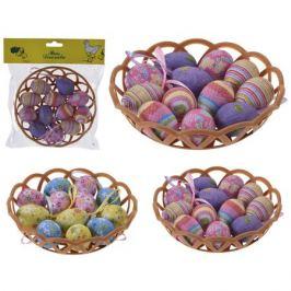 декор пасхальный набор яиц в корзинке 12шт 19см