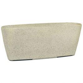горшок 60,5х16,5х23,5см белый каменная пудра/полим.материалы