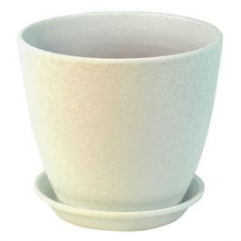 горшок керамический Бутон Винил, диаметр 15 см, 2 л, белый
