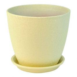 горшок керамический Бутон Винил, диаметр 15 см, 2 л, бежевый