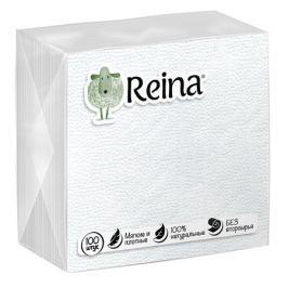 cалфетки REINA белые 1-сл. 12х12см 100шт.