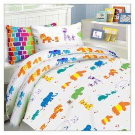постельное белье детское MONA LIZA Kids Зоопарк бязь 1 нав.40х60см, арт.521017