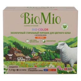 порошок стир. BIOMIO без запаха 1,5кг д/цветного белья