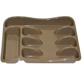 лоток д/столовых приборов VIOLET 33х26х5,5см пластик капучино