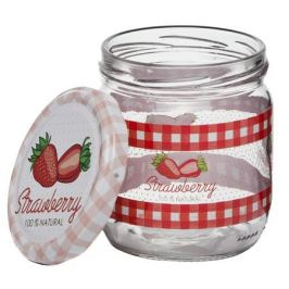 банка д/консервирования HEREVIN Strawberry 0,425л стекло с метал. крышкой