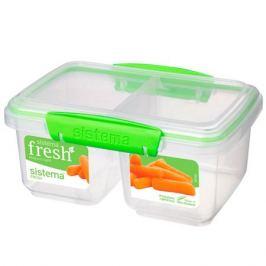 контейнер д/продуктов SISTEMA Split Fresh 1л 16х7,5см двойной 2 замка пластик