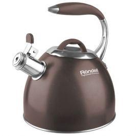 чайник RONDELL Mocco 2,8л нерж.сталь со свистком