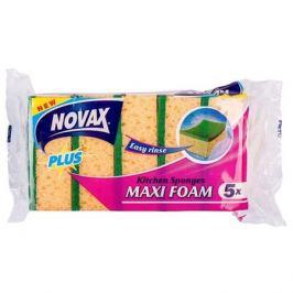 набор губок NOVAX Plus Maxi Foam 5 шт. поролон фибра