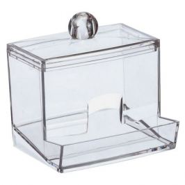 контейнер д/ватных палочек IDEA 9,5х8х9см пластик