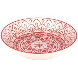 тарелка Арабеска 20см глубокая фарфор