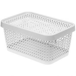 коробка IDEA Пирула белый 4,5л 27х18х12,5см с крышкой пластик