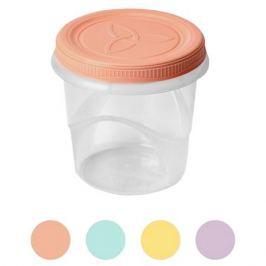 контейнер д/продуктов АРХИМЕД Амулет 0,74л 11,5х11,5х12см винтовой круглый пластик микс цвета