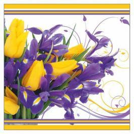 салфетка PRESTIGE Тюльпаны Ирисы 3-сл. 33х33см 20шт.