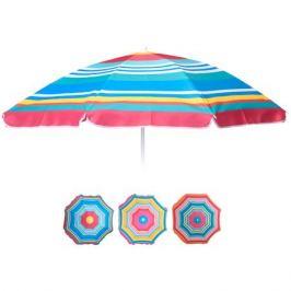 зонт пляжный Полоски цветные h157см d143,5см полиэстер в асс-те