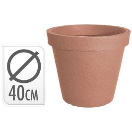 кашпо 40х35см коричневый пластик