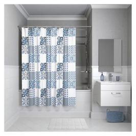 занавеска д/ванной IDDIS Basic 180х180см полиэстер синяя