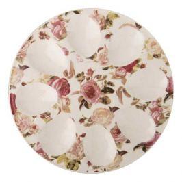 тарелка д/яиц LEFARD Бабочки 20см 8 яиц керамика