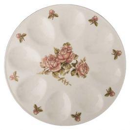 тарелка д/яиц LEFARD Корейская роза 20см 8 яиц керамика