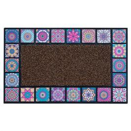 коврик ATTRIBUTE Mosaic Quadro 45х75см фиолетовый резина/полипропилен