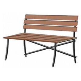 скамейка садовая со спинкой LAKSI 140х30х60см дерево/металл