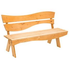 скамейка садовая со спинкой Ривьера 160х57х84см дерево