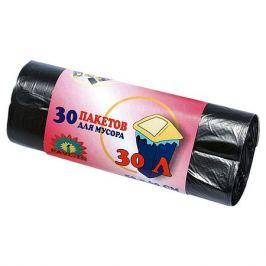 пакеты для мусора 30 шт, 30 л, полиэтилен