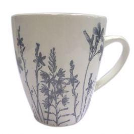 кружка Гербарий-травы, серый, 370 мл, фаянс