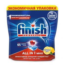 Таблетки для посудомоечной машины «Лимон All in 1 Max» Finish, 65 шт