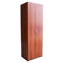 Шкаф «Уют», с полками, 80х45х240 см, вишня академия