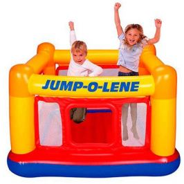 Надувной батут с сеткой «Jump-o-lene» Intex 48260, 174х174х112 см