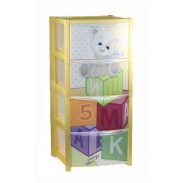 Комод «Кубики», 4 ящика