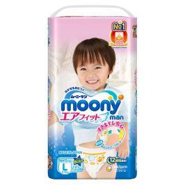 Подгузники-трусики Moony Man для мальчиков L (9-14 кг), 44 шт