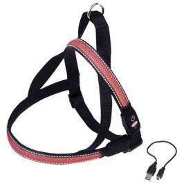 Шлейка Nobby для собак светодиодная, красная, L/70-85 см