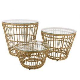 Набор декоративных столиков «Лондон», бежевый, D 47-54-60 см