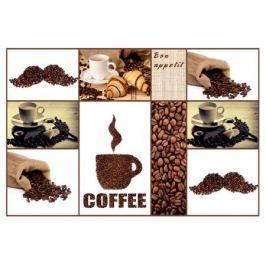 Кухонный фартук «Кофе», темный 90х60х0.6 см