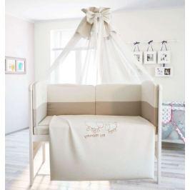 Комплект в кроватку Polini «Я и моя мама», 7 предметов, 140х70 см