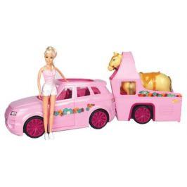 Набор Кукла с машиной и трейлером для лошади ONE TWO FUN