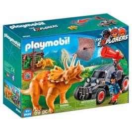 Конструктор Playmobil 9434 The Explorers Вражеский квадроцикл с трицератопсом