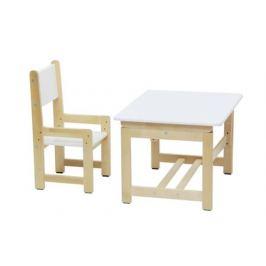 Комплект растущей детской мебели Polini Eco 400 SM Смайл, белый/натуральный
