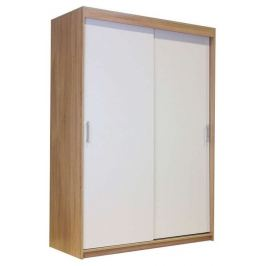 Шкаф-купе «Уют 2D» 140х60х200 см Дуб Сонома + Белый