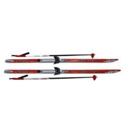 Лыжи с креплением 75 мм «Соболь» 160 см + палки