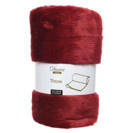 Плед Decoris, красный, 130х150 см