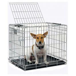 Переноска-клетка Savic Dog Residence для собак, хром, 33х40х50 см
