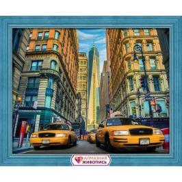 Алмазная вышивка Такси Нью-Йорка 50х40см
