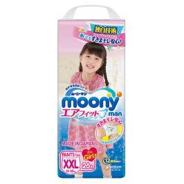 Подгузники-трусики Moony Man для девочек XXL (13-25 кг), 26 шт