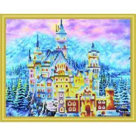 Алмазная мозаика Зимний замок Нойшванштайн Рыжий Кот 30х40см