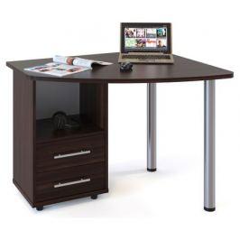 Стол компьютерный КСТ-102 левый, венге