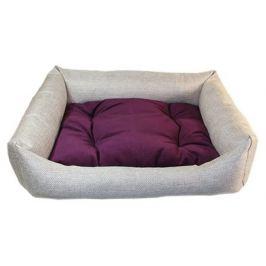 Лежак Up! «Люкс» для животных, флок фиолетовый, 60х50х15 см