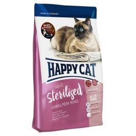 Корм Happy Cat Sterilised для кошек, c говядиной, 1.4 кг