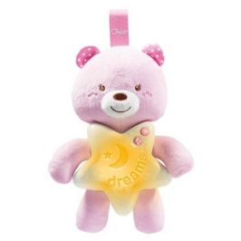 Игрушка-подвеска Chicco «Медвежонок», розовый, с рождения